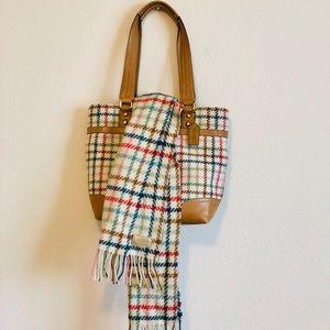 ✨Auth plaid COACH purse w/scarf 💋WOOL💋